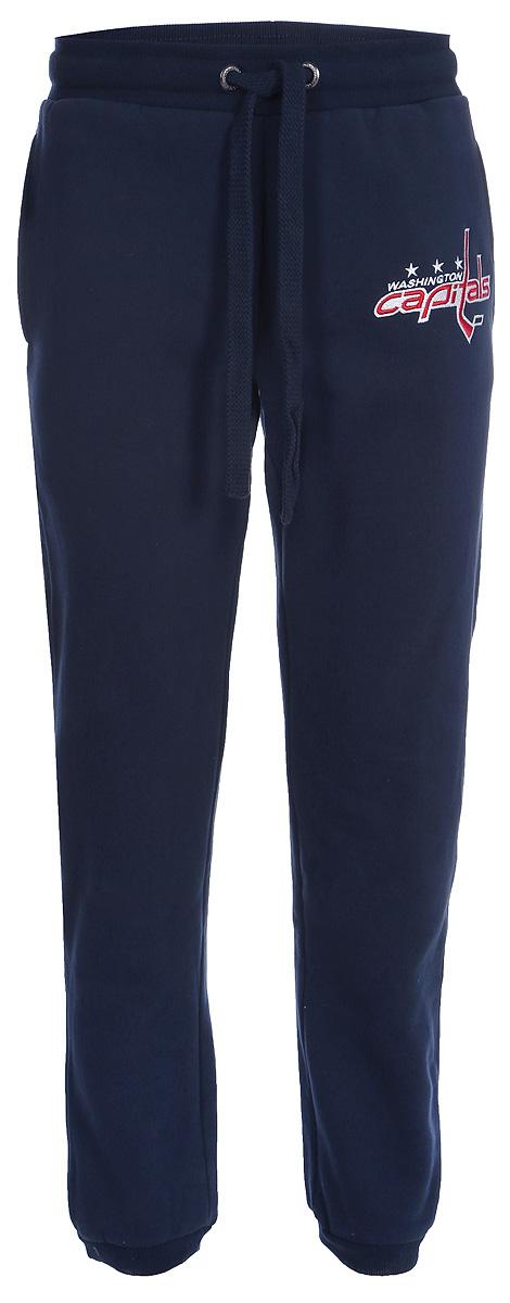 Брюки спортивные мужские Atributika & Club Washington Capitals, цвет: синий. 45220. Размер M (48/50)45220Мужские спортивные брюки великолепно подойдут для отдыха и занятий спортом. Брюки с широкой эластичной резинкой в поясе.