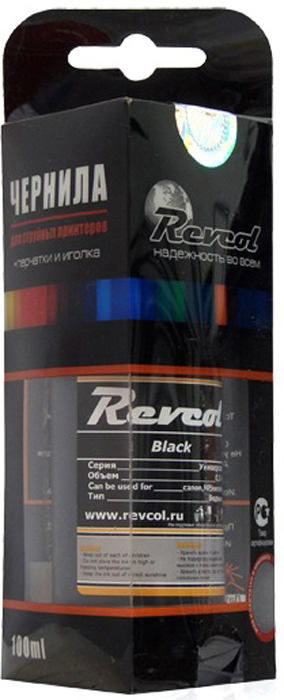 Revcol R-HCL-0,1-BD Black, чернила для принтеров HP/Canon, 100 мл чернила revcol для hp canon yellow dye 100 мл