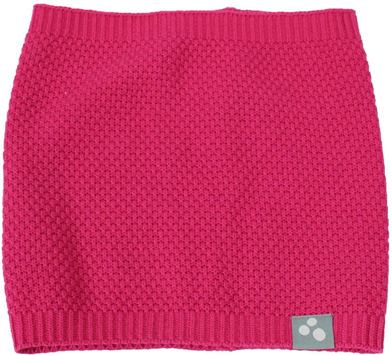 Манишка детская Huppa Rafa 2, цвет: фуксия. 86670200-70063. Размер универсальный86670200-70063Стильная и яркая манишка RAFA 2 - это не только прекрасная защита от холода, но и модный аксессуар. Удобство в ношении и комфорт, так как в отличии от обычного шарфа, манишка не сползет во время ношения. Выполнена из хлопково-акриловой пряжи.