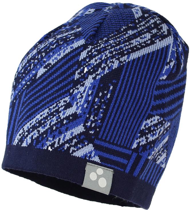 Шапка детская Huppa Paul 1, цвет: темно-синий. 80130100-82386. Размер XL (57/59) шапка детская huppa шапка зимняя weemi фиолетовый принт