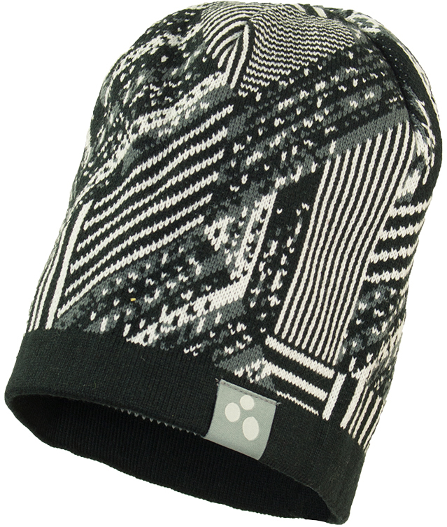 Шапка детская Huppa Paul 1, цвет: черный. 80130100-82309. Размер XL (57/59)
