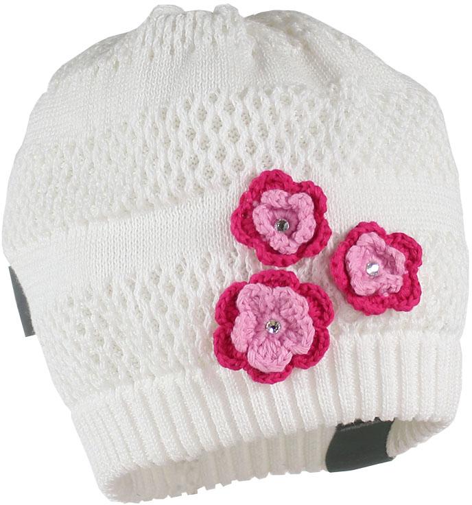 Шапка для девочки Huppa Gloria, цвет: белый. 8343BASE-00020. Размер XL (57/59)8343BASE-00020Вязанная шапка Gloria прекрасно подойдет для повседневного комфортного ношения. Модель выполнена из натуральной хлопковой пряжи. Присутствуют светоотражательные детали.