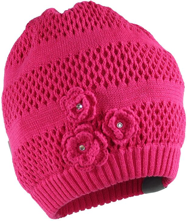 Шапка для девочки Huppa Gloria, цвет: фуксия. 8343BASE-063. Размер XL (57/59)8343BASE-063Вязанная шапка Gloria прекрасно подойдет для повседневного комфортного ношения. Модель выполнена из натуральной хлопковой пряжи. Присутствуют светоотражательные детали.