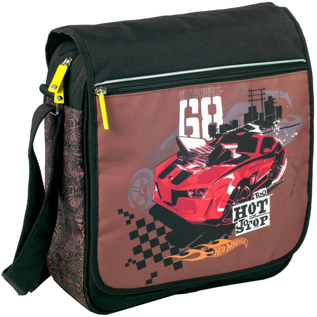 Erich Krause Сумка школьная Hot Wheels Racing39165Школьная сумка Erich Krause имеет прямоугольную форму. Сумка достаточно вместительная.Она имеется одно большое отделение. Застегивается на застежку-молнию и дополнительно наклапан. На клапане расположен прорезной карман на застежке-молнии. Удобный регулируемыйремень для переноски позволяет носить сумку на плече или через плечо. Изготовлена из современного материала высоко качества, не содержащего в своем составевредных или опасных для здоровья ребенка веществ.
