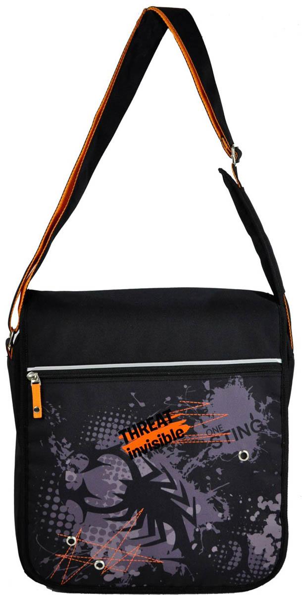 Erich Krause Сумка школьная Invisible scorpion39326Школьная сумка Erich Krause имеет прямоугольную форму. Сумка достаточно вместительная.Она имеется одно большое отделение. Застегивается на застежку-молнию и дополнительно наклапан. На клапане расположен прорезной карман на застежке-молнии. Удобный регулируемыйремень для переноски позволяет носить сумку на плече или через плечо.Изготовлена из современного материала высоко качества, не содержащего в своем составевредных или опасных для здоровья ребенка веществ.