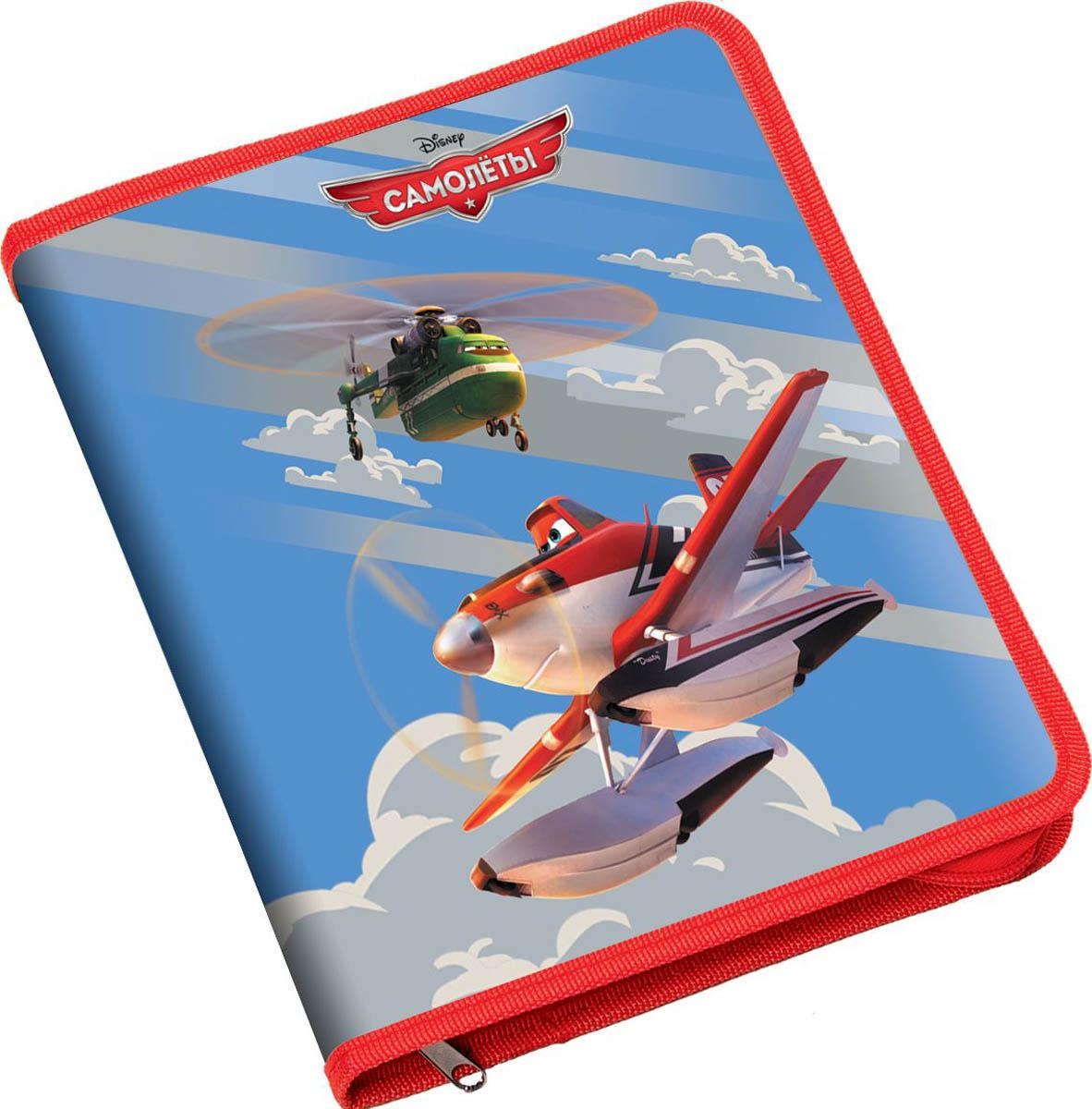 Erich Krause Папка для тетрадей на молнии Flying Planes формат B539663Пластиковая папка Flying Planes предназначена для хранения и транспортировки тетрадей. Папка застегивается на застежку-молнию. Края изделия оформлены текстильным кантом.
