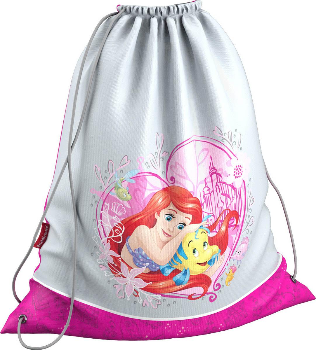 Erich Krause Мешок для обуви Принцессы Disney Большая мечта42291Мешок Erich Krause Принцессы Disney удобно использовать как для хранения, так и для переноски сменной обуви. Изделие выполнено из водонепроницаемого материала. Мешок затягивается сверху при помощи текстильных шнурков. Шнурки фиксируются в нижней части сумки, благодаря чему ее можно носить за спиной как рюкзак.