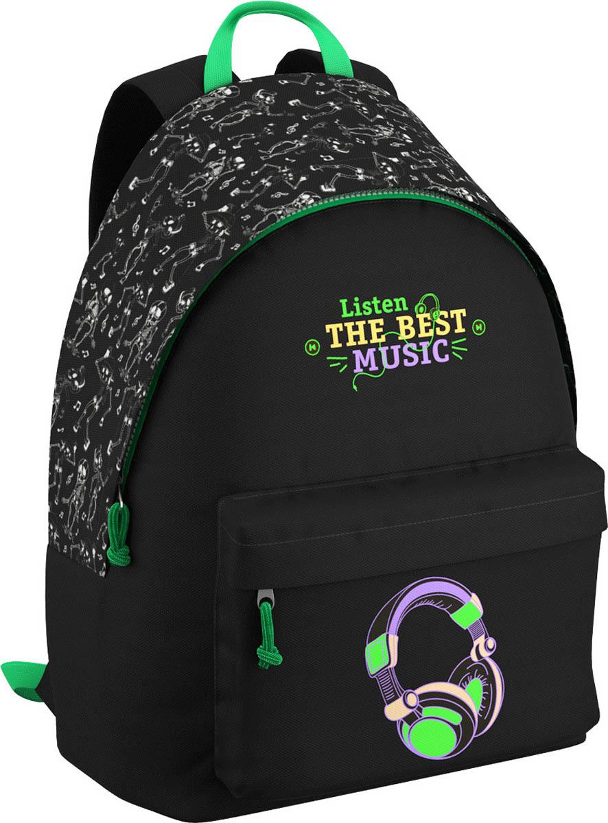 Erich Krause Рюкзак молодежный Music EasyGo42484Легкий и компактный городской рюкзак. Спина дополнительна уплотнена. Одно основное отделение и большой фронтальный карман. В основном отделении предусмотрен органайзер. Вмещает формат А4. Вес рюкзака без наполнения 350гр. Размеры: 40*39*18 см.