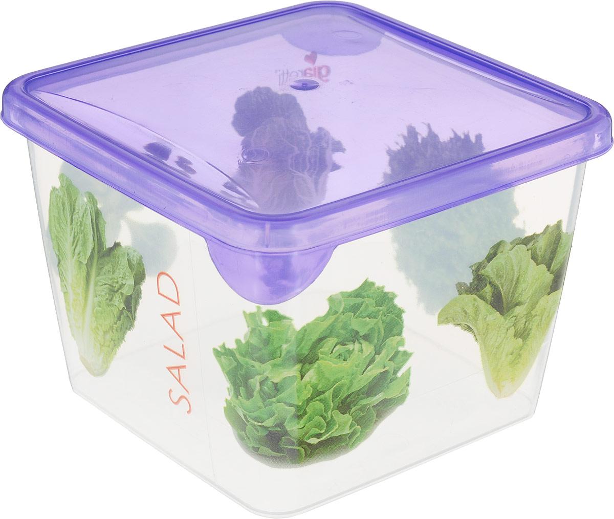 Емкость для продуктов Giaretti Браво, цвет: фиолетовый, прозрачный, 750 мл. GR1065GR1065_фиолетовыйЕмкость для продуктов Giaretti Браво изготовлена из пищевого полипропилена. Крышкаплотно закрывается, дольше сохраняя продукты свежими. Боковые стенки прозрачные, чтопозволяет видеть содержимое.Емкость идеально подходит для хранения пищи, фруктов,ягод, овощей.Такая емкость пригодится в любом хозяйстве.