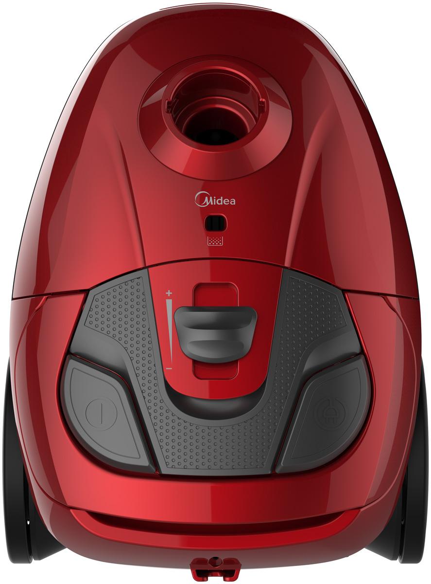 Midea VCB35B15C-A пылесосVCB35B15C-AПылесос Midea VCB35B15C-A с потребляемой мощностью 1400 Вт и мощностью всасывания 280 Вт поможет справитьсяс пылью и обеспечит чистоту вашего дома. На корпусе расположены кнопка включения, регулировка мощности икнопка для автоматического сматывания шнура питания. Для удобства использования имеется индикаторзаполнения мешка для сбора пыли.