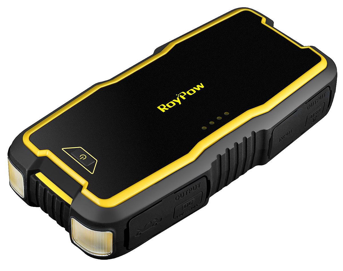 Пуско-зарядное устройство RoyPow J18, 18000 мАчJ18RoyPow J18 - многофункциональное устройство с емкостью 18000 мА/ч (66,6 Вт/ч). Основным отличием пуско-зарядных устройств RoyPow отобычных power bank (пауэр банк) является функция запуска двигателя. Мощное пусковое устройство RoyPow J18 с пиковым током 800Аможет запустить двигатель: бензиновый объемом до 8 литров; дизельный объемом до 5 литров. Cтепень защиты IP66 (водонепроницаемая, противоударная, пылезащитная, противоскользящая): прочный герметичный силиконовый корпусзащищает от осадков в виде дождя и снега, а так же пыли и песка. Корпус, изготовленный из огнестойкого материала UL94 V-0, делает устройство RoyPow J18 ультрабезопасным в использовании и прихранении. Многоуровневая эксклюзивная защита RoyPow, включающая в себя защиту от неправильной работы, от короткого замыкания, от обратнойполярности с защитой от искр, которая позволяет безопасное подключение к любому аккумулятору и обеспечивает безопасность какпользователей, так и транспортных средств. Фонарь состоящий из двух светодиодов позволяет использовать как для освещения (3 режима: подсветка, SOS, строб), а также обеспечиваетаварийное предупредительное освещение (мигающий красный и зеленый). Двойной выход USB 5V / 2.4A позволяет идентифицировать ваши устройства благодаря технологи зарядки AI и обеспечить самый быстрыйспособ зарядки сотового телефона, планшета, камеры и т.д. Выход 12 В / 10А (макс. 120 Вт) позволяет использовать для питания различные автомобильные электроприборы, например: автохолодильник,автомобильный пылесос, компрессор и т.д.Технические характеристики:Тип аккумулятора: литий-полимерный Li-Po. Ёмкость аккумулятора: 18000 мА/ч (66,6 Вт/ч). Пиковый ток 800А. Пусковой ток 300А. Вход Micro USB 5В/2.1А - 2 шт. Выходы USВ-выход 5В/2.4А - 2 шт., 12В/10А, Силовой выход 12В. Фонарь: Яркий светодиодный белый (постоянный свет / SOS / мигающий), Предупреждающий зеленый/красный. Длительность зарядки устройства от сети 220В 5 часов - 5В/4А. Диапазон тем