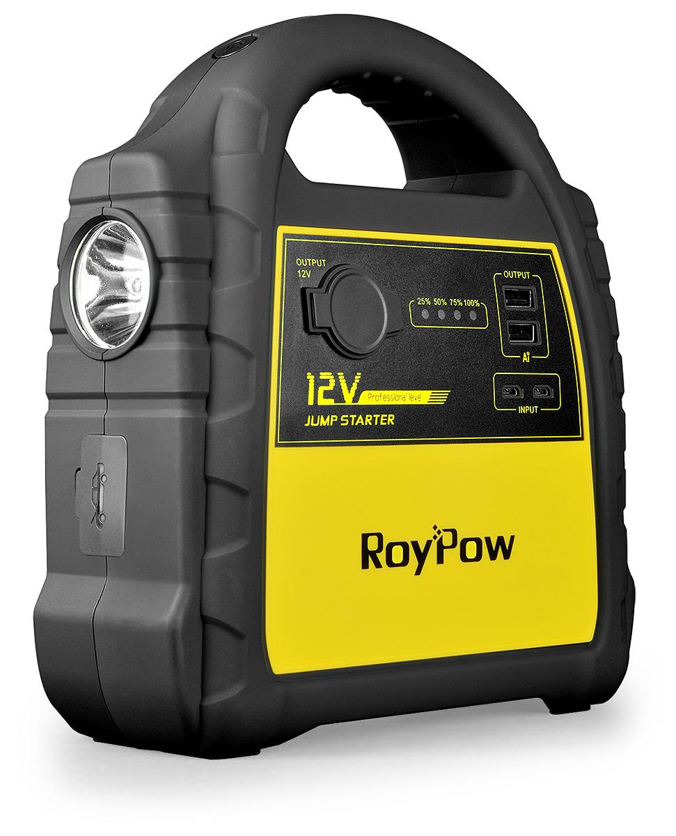 Пуско-зарядное устройство RoyPow J301, 30000 мАчJ301Невероятные пиковый ток 1600А в компактном корпусе. Фонарь-прожектор, лампа дневного света. Лучший выбор туристов, охотников и рыбаков. Невероятные пиковый ток 1600А в компактном корпусе. Фонарь-прожектор, лампа дневного света. Лучший выбор туристов, охотников и рыбаков. Технические характеристикиТип аккумулятора литий-полимерный Li-Po Ёмкость аккумулятора 30000 мА·ч (111 Вт·ч) Пиковый ток 1600А Пусковой ток 600А Вход Micro USB 5В/2.1А - 2 шт. Выходы USВ-выход 5В/2.4А - 2 шт., Силовой выход 12В, Розетка прикуривателя 12В Фонарь Яркий светодиодный белый (постоянный свет / SOS / мигающий), Предупреждающий зеленый/красный, Предупреждающий белый/красный Длительность зарядки устройства от сети 220В 7 часов - 5В/4А Диапазон температур для запуска -30°С +60°С Диапазон температур для хранения -10°С +30°С Вес устройства 1500 г Размеры устройства 188 ? 85 ? 230 мм Вес брутто в фирменной упаковке (комплект) 2.7 кг Размеры фирменной упаковки (комплект) 264 ? 300 ? 134 мм Бренд RoyPow Страна производства Китай Гарантия 12 месяцев ВозможностиВозможность запуска двигателя транспортного средства с напряжением бортовой сети 12В Запуск бензинового двигателя объемом до 10 л Запуск дизельного двигателя объемом до 7 л Количество запусков двигателя с полной зарядкой до 40 раз Зарядка мобильных телефонов и гаджетов 11-15 раз Питание устройств через переходник прикуривателя мама: Да Системы защитыИнтеллектуальные пусковые провода: Да Искробезопасность: Да Защита от переполюсовки: Да Защита от короткого замыкания и обратного заряда: Да Защита от перенапряжения и перегрузки по току: Да Защита от перегрева: Да Огнестойкий материал UL94 V-0: Да КомплектацияУстройство 1 шт. Интеллектуальные пусковые провода с зажимами 1 шт. Адаптер для зарядки устройства от сети 220В 1 шт. Адаптер для зарядки устройства от прикуривателя автомобиля 1 шт. Переходник для зарядки моб. электроники Micro-USB, iPhone lightning, USB type C Инструкция на русском языке 