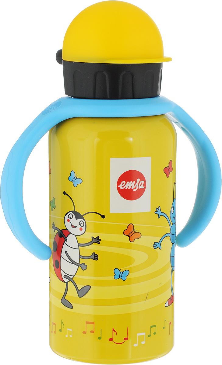 Фляжка Emsa Муравей Антон, цвет: желтый, 400 мл514416Фляга изготовлена из алюминия и покрыта специальным составом, который препятствует окислению. В нее можно наливать не только воду, но исоки, чай и другие напитки. Из фляги очень удобно пить, а крышка закрывается абсолютно герметично. Можно мыть в посудомоечной машине.