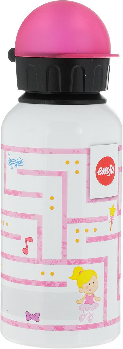 Фляжка Emsa, цвет: розовый, 400 мл514395Фляга изготовлена из алюминия и покрыта специальным составом, который препятствует окислению. В нее можно наливать не только воду, но исоки, чай и другие напитки. Из фляги очень удобно пить, а крышка закрывается абсолютно герметично. Можно мыть в посудомоечной машине.