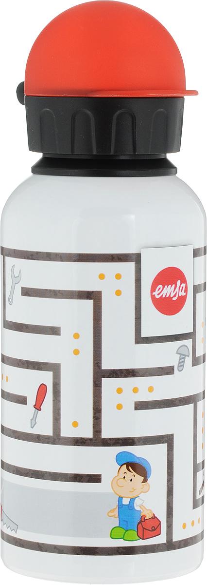 Фляжка Emsa, цвет: белый, 400 мл514394Фляга изготовлена из алюминия и покрыта специальным составом, который препятствует окислению. В нее можно наливать не только воду, но исоки, чай и другие напитки. Из фляги очень удобно пить, а крышка закрывается абсолютно герметично. Можно мыть в посудомоечной машине.