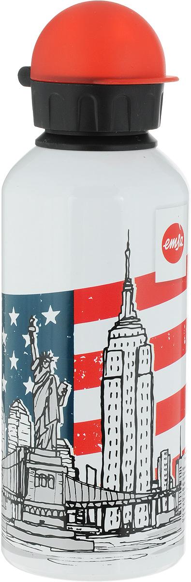 Фляжка Emsa Нью-Йорк, цвет: белый, 600 мл514409Фляга изготовлена из алюминия и покрыта специальным составом, который препятствует окислению. В нее можно наливать не только воду, но исоки, чай и другие напитки. Из фляги очень удобно пить, а крышка закрывается абсолютно герметично. Можно мыть в посудомоечной машине.