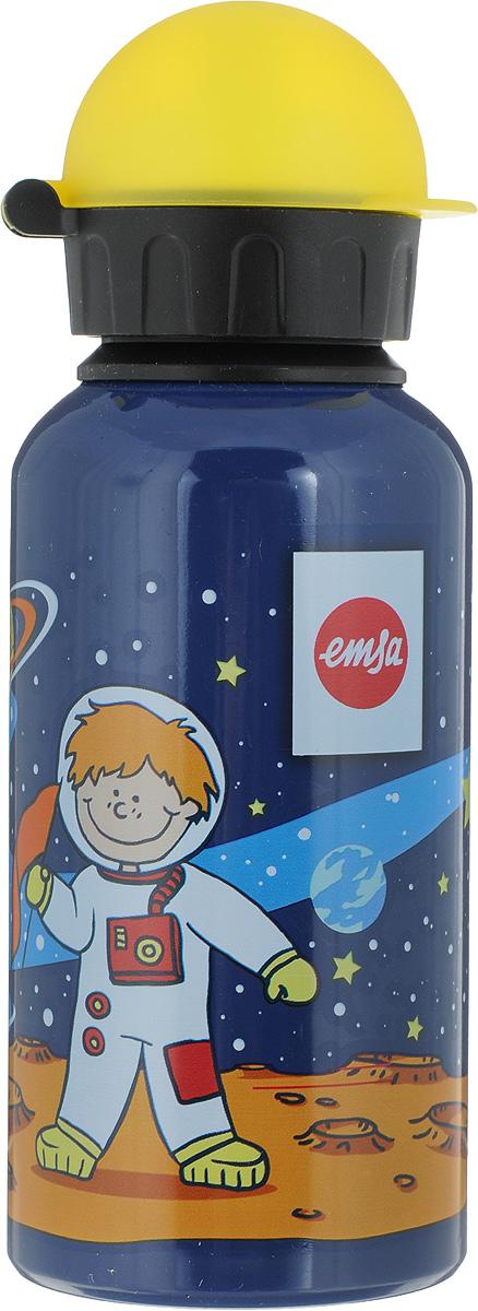 Фляжка Emsa Астронавт, цвет: темно-синий, 400 мл514396Фляга изготовлена из алюминия и покрыта специальным составом, который препятствует окислению. В нее можно наливать не только воду, но исоки, чай и другие напитки. Из фляги очень удобно пить, а крышка закрывается абсолютно герметично. Можно мыть в посудомоечной машине.