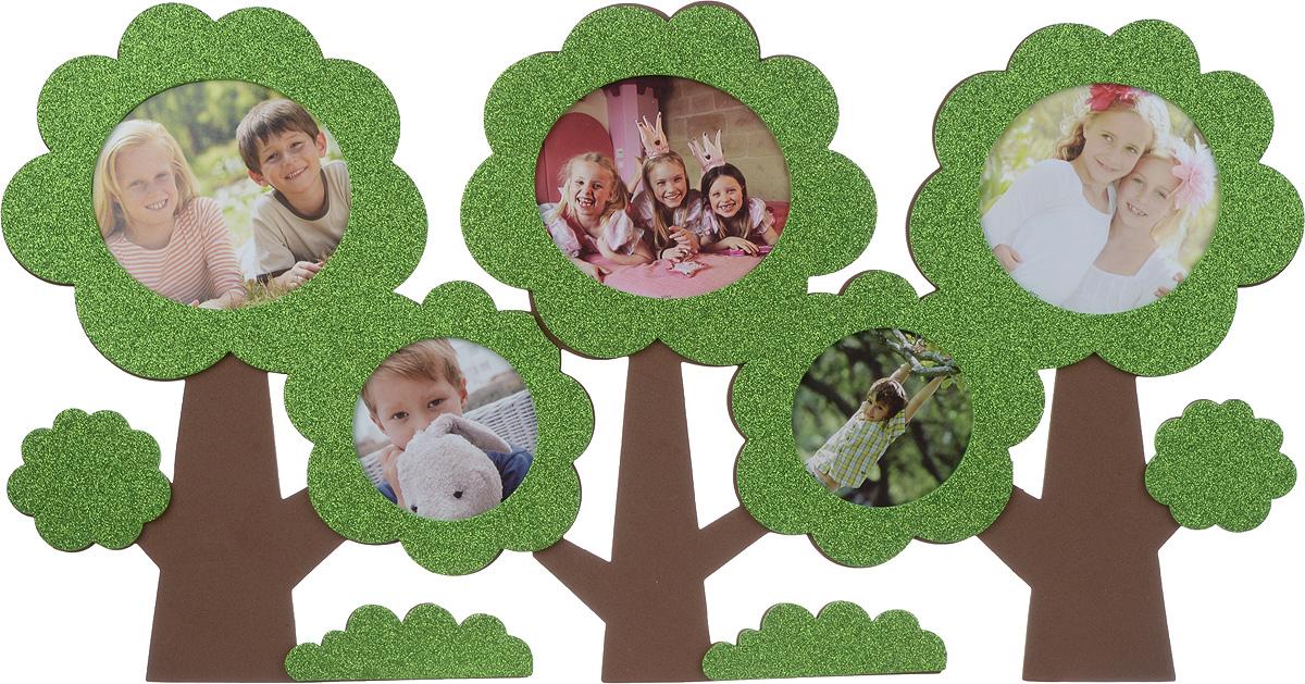 Room Decor Наклейка-фоторамка интерьерная Домашний уют цвет зеленый коричневый1193594_зеленый, коричневый