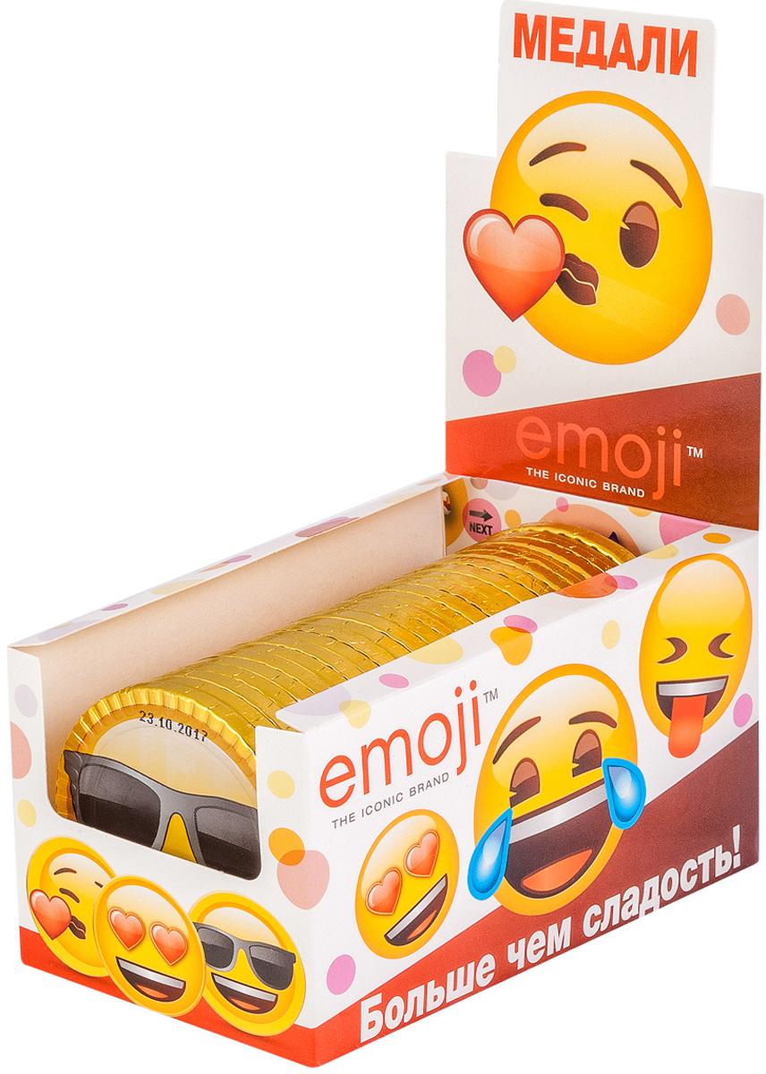 Emoji шоколадные медали, 25 шт по 31 г paw patrol шоколадные медали 21 г по 24 шт