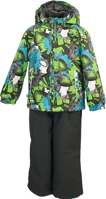Комплект верхней одежды детский Huppa Yoko, цвет: зеленый. 41190014-82207. Размер 10441190014-82207Комплект YOKO. Размер 80-122. Водо и воздухонепроницаемость 5 000 вверх / 10 000 низ. Состав: Ткань 100% полиэстер, Подкладка тафта 100% полиэстер. Утеплитель: Куртка 100 гр, брюки 40 гр. Отличительные особенности: Швы проклеены, Отстегивающийся капюшон, Капюшон на резинке, Манжеты рукавов на резинке, Регулируемые низы, Эластичный шнур+фиксатор, Без внутренних швов, Резиновые подтяжки. Присутствуют светоотражательные детали.