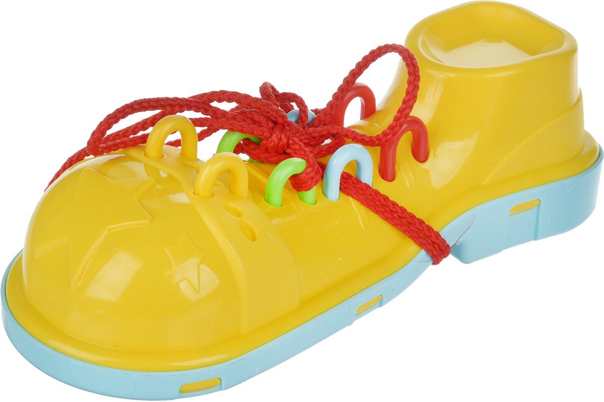 Пластмастер Игра-шнуровка Клоунский ботинок цвет желтый мастер вуд игра шнуровка пуговичка цвет синий желтый