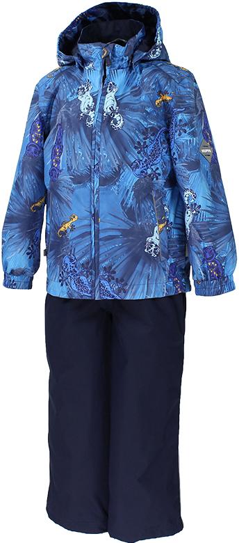 Комплект верхней одежды детский Huppa Yoko, цвет: темно-синий. 41190011-82186. Размер 11041190011-82186Комплект YOKO. Размер 80-122. Водо и воздухонепроницаемость 5 000 вверх / 10 000 низ. Состав: Ткань 100% полиэстер, Подкладка тафта 100% полиэстер. Утеплитель: Куртка 100 гр, брюки 100 гр. Отличительные особенности: Швы проклеены, Отстегивающийся капюшон, Капюшон на резинке, Манжеты рукавов на резинке, Регулируемые низы, Эластичный шнур+фиксатор, Без внутренних швов, Резиновые подтяжки. Присутствуют светоотражательные детали.