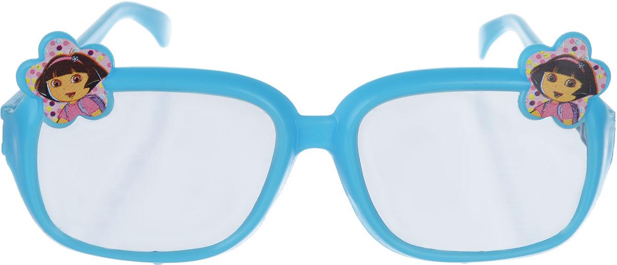 Веселая затея Очки солнцезащитные детские Даша-путешественница цвет синий