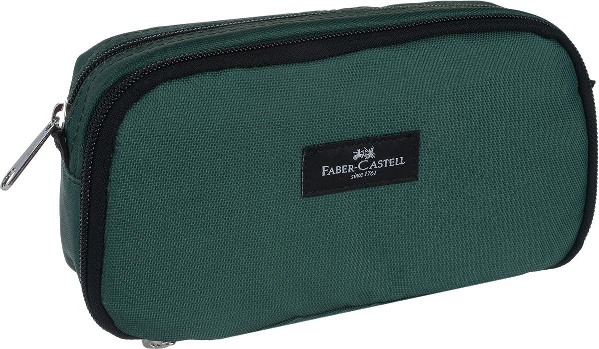Faber-Castell Пенал цвет зеленый191803_зеленыйСтильный пенал Faber-Castell выполнен из прочного материала и оформлен вставкой сназванием бренда. Пенал содержит два отделения, которые закрываются на застежки- молнии. В малом отделении расположены два кармана, один из которых закрывается на молнию,а другой на липучку. Пенал послужит отличным помощником во время занятий и позволитсохранить порядок на рабочем столе.