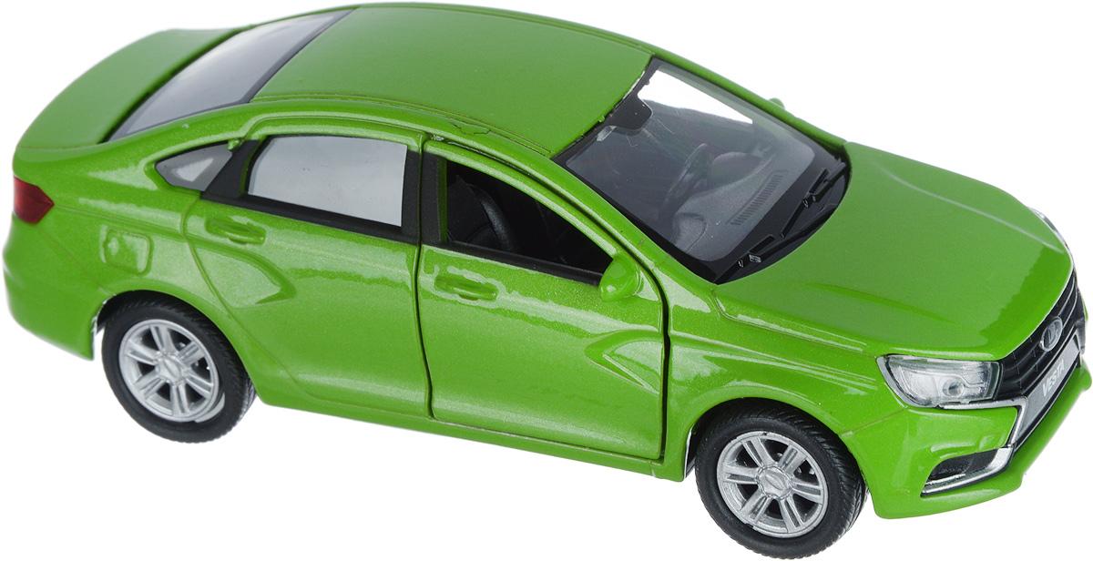 Welly Машинка LADA Vesta цвет салатовый машина welly lada vesta такси 43727ti