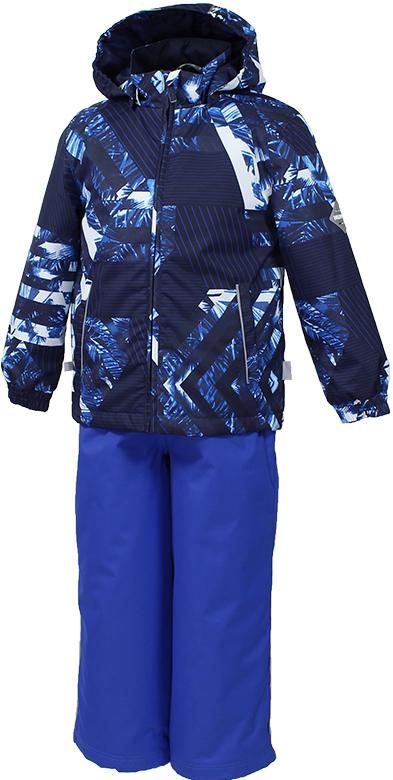 Комплект верхней одежды детский Huppa Yoko, цвет: темно-синий. 41190014-82335. Размер 11641190014-82335Комплект YOKO. Размер 80-122. Водо и воздухонепроницаемость 5 000 вверх / 10 000 низ. Состав: Ткань 100% полиэстер, Подкладка тафта 100% полиэстер. Утеплитель: Куртка 100 гр, брюки 40 гр. Отличительные особенности: Швы проклеены, Отстегивающийся капюшон, Капюшон на резинке, Манжеты рукавов на резинке, Регулируемые низы, Эластичный шнур+фиксатор, Без внутренних швов, Резиновые подтяжки. Присутствуют светоотражательные детали.