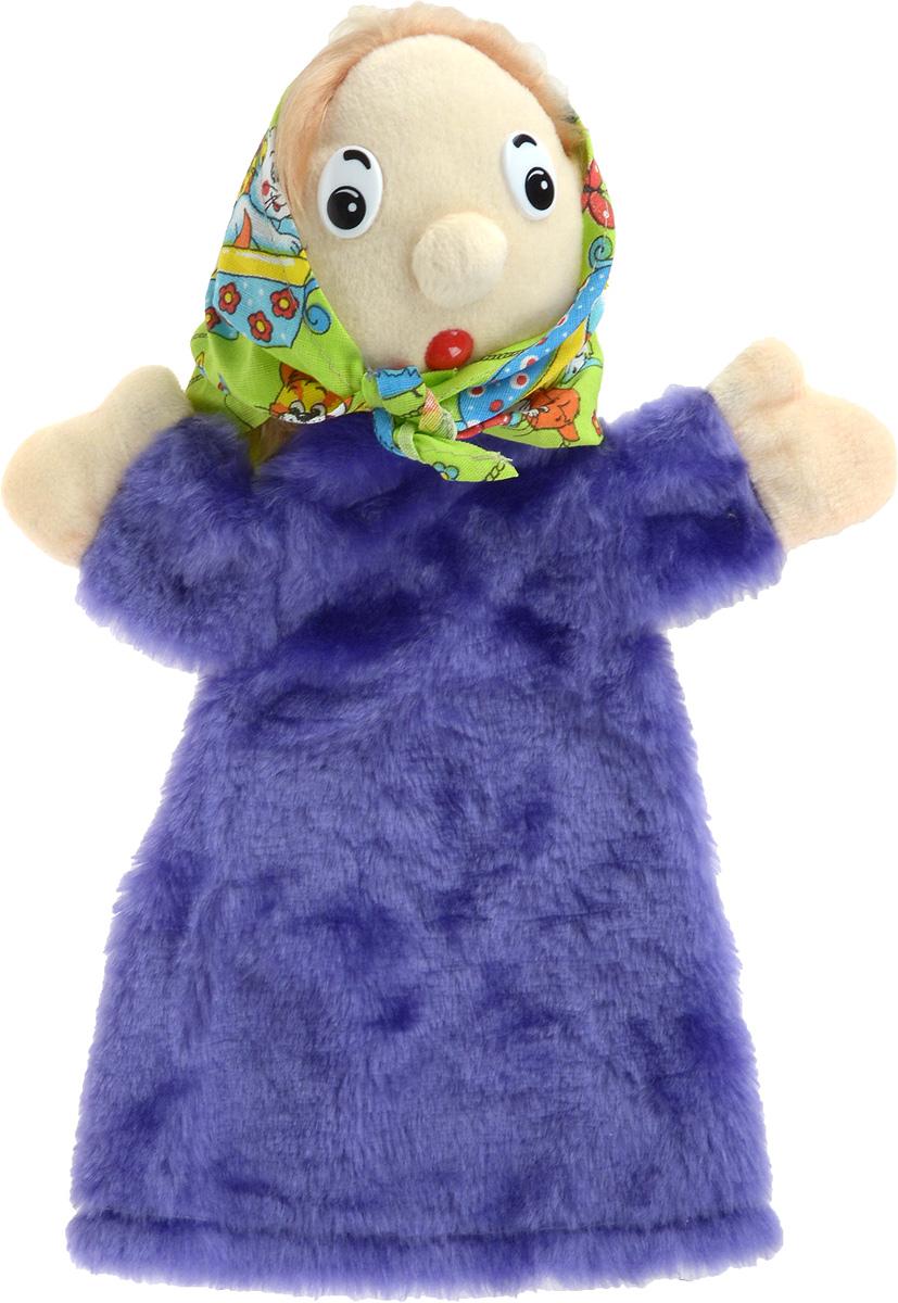 Sima-land Мягкая игрушка на руку Бабка Би-ба-бо цвет фиолетовый 36 см 2008915 sima land игрушка на руку егорка