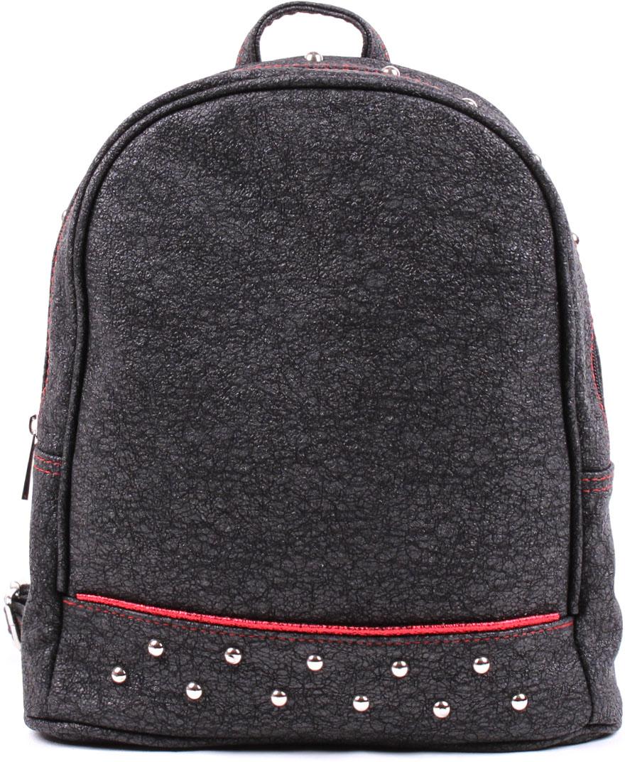 Рюкзак женский Медведково, цвет: черный. 17с4437-к14