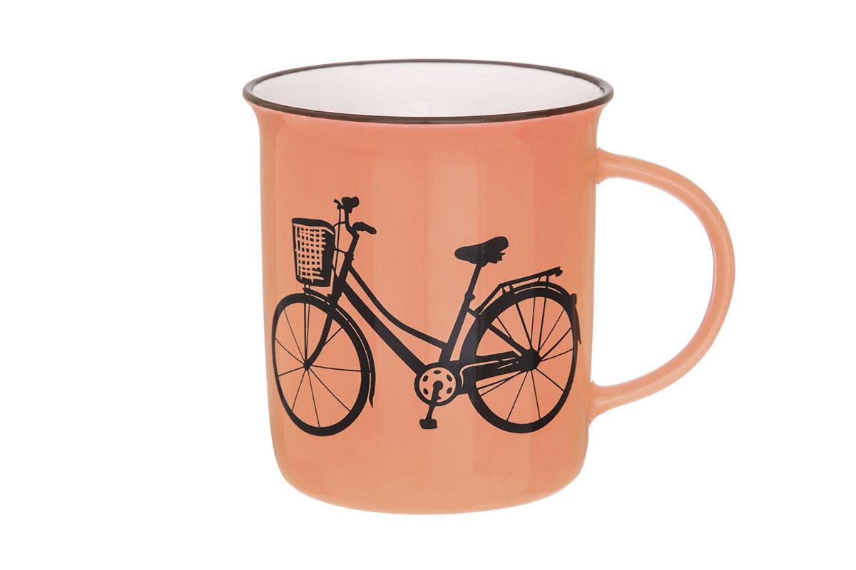 Кружка Elan Gallery Велосипед, цвет: оранжевый, 320 мл130006Кружка Elan Gallery Велосипед выполнена из высококачественного фарфора. Яркая необычная кружка имеет широкую горловину и удобную ручку для повседневного использования. Не оставит равнодушным ни одного из ваших гостей и станет прекрасным выбором для подарка.