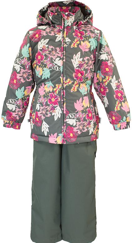 Комплект одежды для девочки Huppa Yonne: куртка, полукомбинезон, цвет: серый, розовый. 41260014-81148. Размер 10441260014-81148Комплект верхней одежды для девочки Huppa Yonne выполнен из износостойкого полиэстера и состоит из куртки и полукомбинезона. В качестве подкладки и утеплителя используется полиэстер. Ткань имеет водонепроницаемость 10000 мм, воздухопроницаемость 10000 г/м2. Полукомбинезон с высокой грудкой застегивается на молнию. Изделие дополнено мягкими резиновыми лямками, регулируемыми по длине. На талии сзади и по бокам предусмотрена вшитая эластичная резинка. Снизу брючин предусмотрены шнурки-утяжки со стопперами. Куртка со съемным капюшоном и воротником-стойкой застегивается на застежку-молнию. Капюшон пристегивается при помощи кнопок. Манжеты рукавов и спинка на талии собраны на внутренние резинки. Спереди модель дополнена двумя врезными карманами.Комплект оснащен светоотражающими элементами.