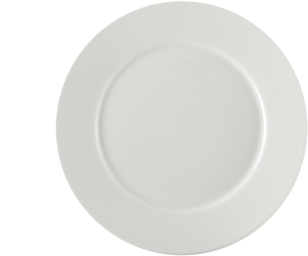 Тарелка Nuova Cer, 26 см. РП-02/0301РП-02/0301ROYAL новый уникальный продукт на рынке фарфора производится из материала, в состав которого входит алюминиум (глинозем) в виде порошка, что придаёт фарфору уникальные свойства: белоснежный цвет, как на поверхности, так и на изломе, более тонкие и изящные формы, так как добавление металла делает фарфоровую массу более пластичной, устойчивость к сколам и царапинам. Возможный перепад температур при эксплуатации до 200 градусов! Фарфор покрывается глазурью, что характеризует эту посуду как продукт высшего класса. Идеально подходит для использования в микроволновой печи и посудомоечной машине