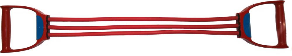 Эспандер плечевой Indigo, 3 жгута эспандер pro suprа многофункциональный в дверной проем 4 жгута мягкие ручки