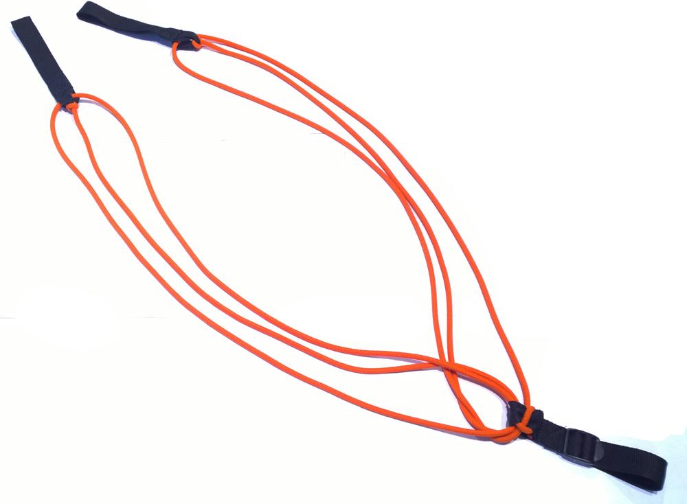 Эспандер Indigo Лыжник-Боксер, тройной жгут, длина 2 м спортивный инвентарь original fittools эспандер в защитном кожухе слабое сопротивление