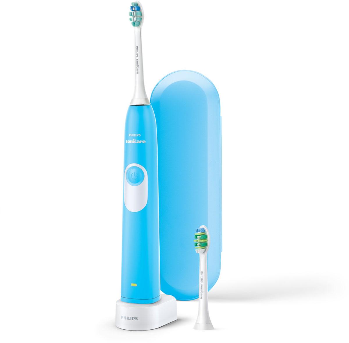 Philips Sonicare HX6212/87 электрическая зубная щеткаHX6212/87Белоснежные и здоровые зубы для ослепительной улыбки. Звуковая зубная щётка Philips Sonicare для подростков - это тщательная чистка зубов и свежее дыхание.Удаляет до 7 раз больше налёта по сравнению с обычной зубной щеткой! Динамический поток, создаваемый щёткой Sonicare, очищает межзубные промежутки.Фиксируемая под углом к рукоятке чистящая насадка для качественной чистки труднодоступных участков. В комплекте две насадки для чистки зубов и дорожный чехол.Подходит для использования при наличии пломб, коронок, брекетов и других ортодонтических конструкций.