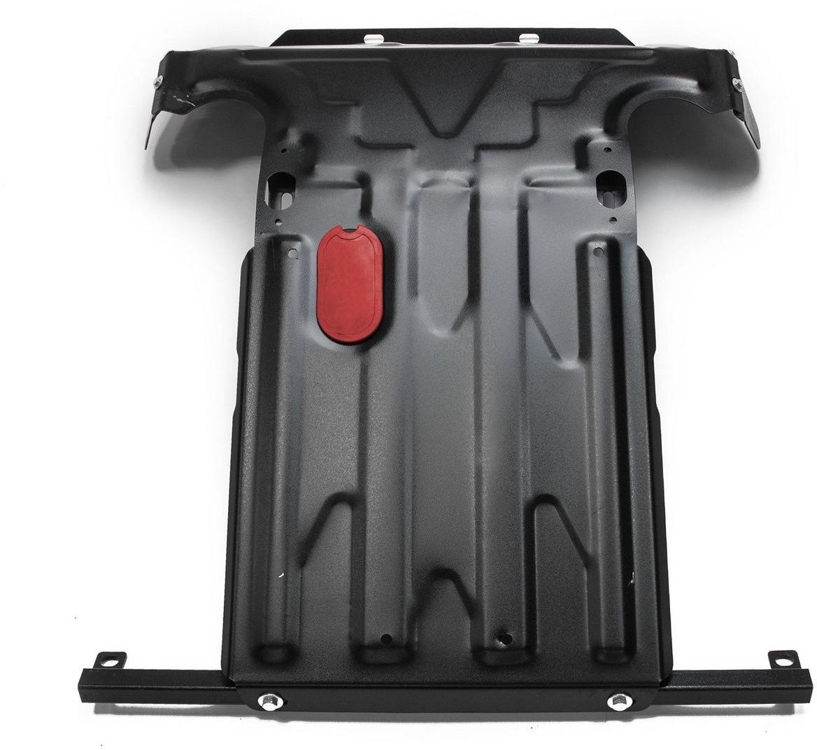 Защита картера Автоброня Chevrolet Niva 2002-, сталь 2 мм1.01017.1Защита картера Автоброня Chevrolet Niva, V- 1,7 2002-, сталь 2 мм, штатный крепеж, 1.01017.1 Дополнительно можно приобрести другие защитные элементы из комплекта: защита КПП - 111.01014.2, защита РК - 111.01011.3Стальные защиты Автоброня надежно защищают ваш автомобиль от повреждений при наезде на бордюры, выступающие канализационные люки, кромки поврежденного асфальта или при ремонте дорог, не говоря уже о загородных дорогах. - Имеют оптимальное соотношение цена-качество. - Спроектированы с учетом особенностей автомобиля, что делает установку удобной. - Защита устанавливается в штатные места кузова автомобиля. - Является надежной защитой для важных элементов на протяжении долгих лет. - Глубокий штамп дополнительно усиливает конструкцию защиты. - Подштамповка в местах крепления защищает крепеж от срезания. - Технологические отверстия там, где они необходимы для смены масла и слива воды, оборудованные заглушками, закрепленными на защите. Толщина стали 2 мм. В комплекте инструкция по установке. При установке используется штатный крепеж автомобиля.