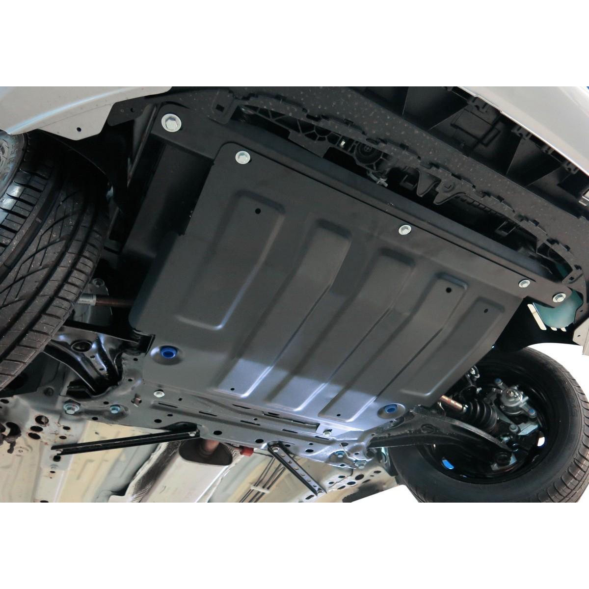 Купить Защита картера и КПП Автоброня Ford Fiesta 2008-2015 2015-2016, сталь 2 мм