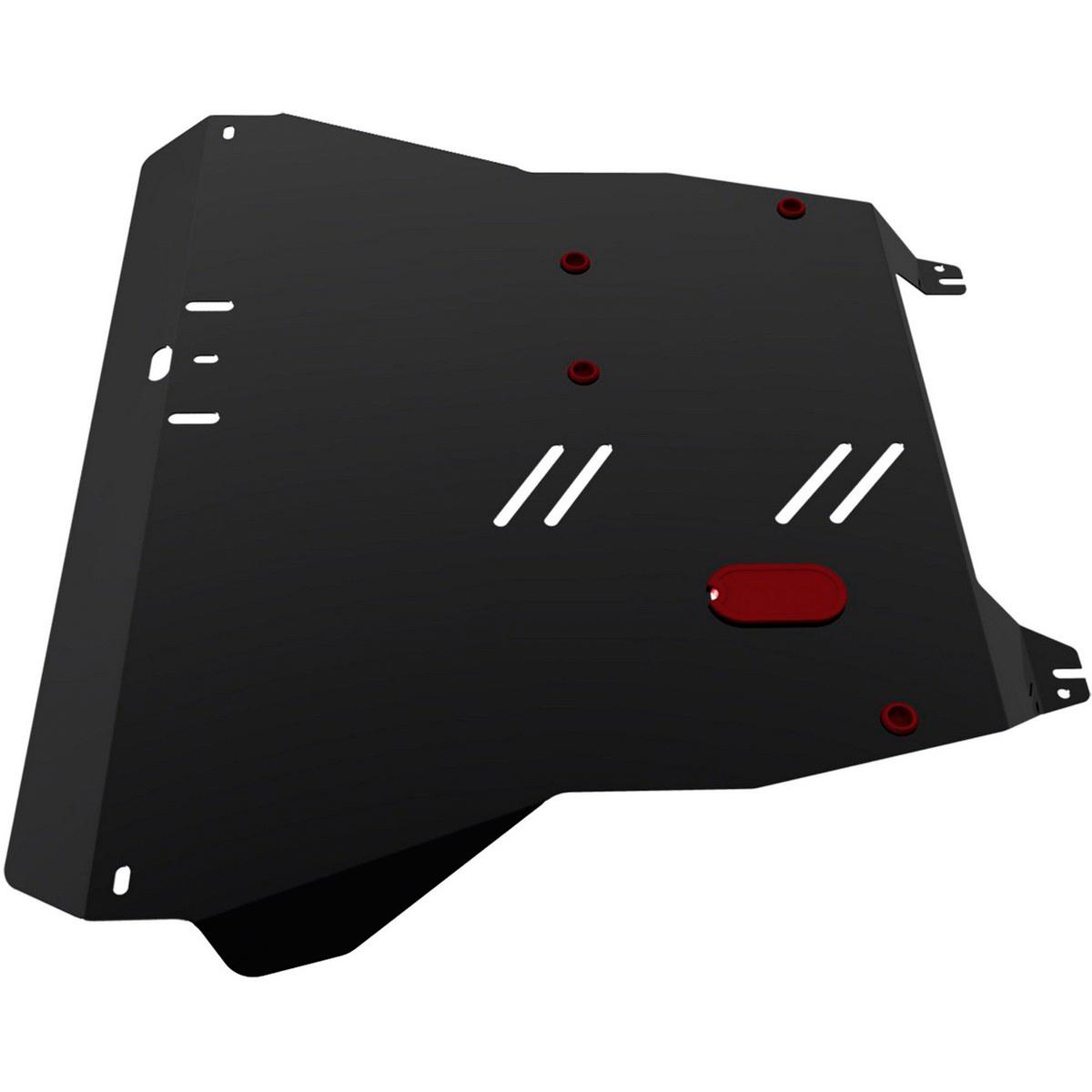 Защита картера и КПП Автоброня Kia Spectra 2004-2011, сталь 2 мм111.02812.1Защита картера и КПП Автоброня Kia Spectra, V - 1,6 2004-2011, сталь 2 мм, комплект крепежа, 111.02812.1Стальные защиты Автоброня надежно защищают ваш автомобиль от повреждений при наезде на бордюры, выступающие канализационные люки, кромки поврежденного асфальта или при ремонте дорог, не говоря уже о загородных дорогах. - Имеют оптимальное соотношение цена-качество. - Спроектированы с учетом особенностей автомобиля, что делает установку удобной. - Защита устанавливается в штатные места кузова автомобиля. - Является надежной защитой для важных элементов на протяжении долгих лет. - Глубокий штамп дополнительно усиливает конструкцию защиты. - Подштамповка в местах крепления защищает крепеж от срезания. - Технологические отверстия там, где они необходимы для смены масла и слива воды, оборудованные заглушками, закрепленными на защите. Толщина стали 2 мм. В комплекте крепеж и инструкция по установке.