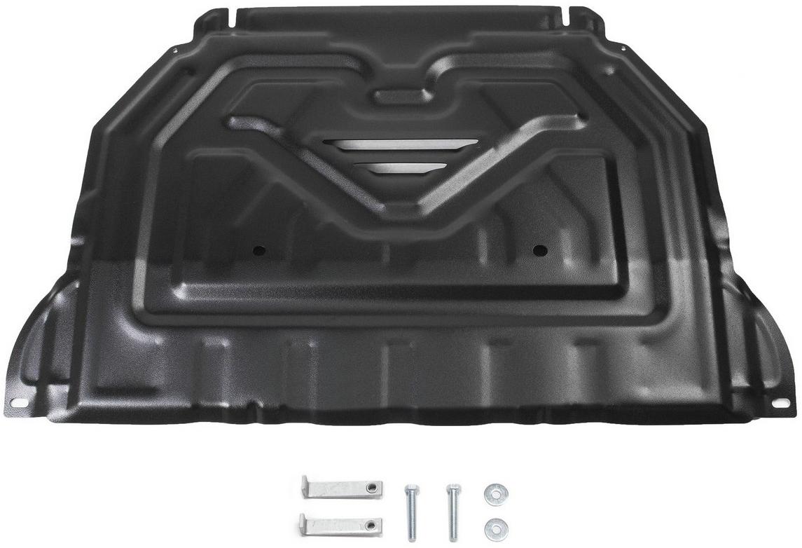Защита картера и КПП Автоброня Mitsubishi Outlander 2012-2015 2015-, сталь 2 мм111.04036.1Защита картера и КПП Автоброня Mitsubishi Outlander, V - 2,0; 2,4; 3,0 2012-2015 2015-, сталь 2 мм, комплект крепежа, 111.04036.1Стальные защиты Автоброня надежно защищают ваш автомобиль от повреждений при наезде на бордюры, выступающие канализационные люки, кромки поврежденного асфальта или при ремонте дорог, не говоря уже о загородных дорогах. - Имеют оптимальное соотношение цена-качество. - Спроектированы с учетом особенностей автомобиля, что делает установку удобной. - Защита устанавливается в штатные места кузова автомобиля. - Является надежной защитой для важных элементов на протяжении долгих лет. - Глубокий штамп дополнительно усиливает конструкцию защиты. - Подштамповка в местах крепления защищает крепеж от срезания. - Технологические отверстия там, где они необходимы для смены масла и слива воды, оборудованные заглушками, закрепленными на защите. Толщина стали 2 мм. В комплекте крепеж и инструкция по установке.
