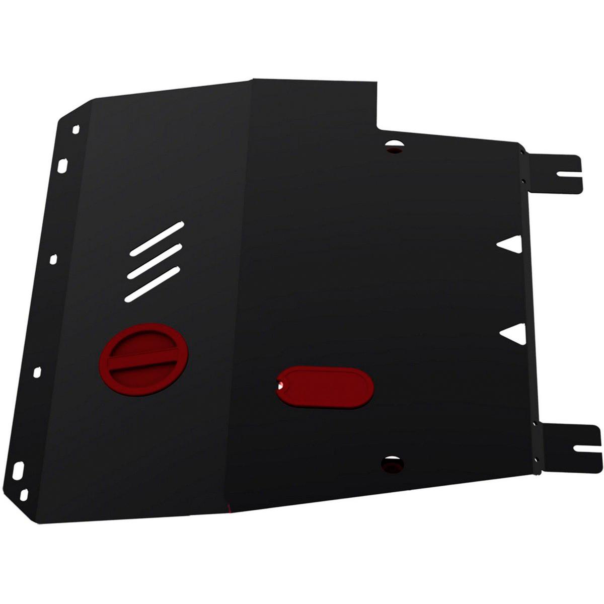 Защита картера и КПП Автоброня Nissan Tiida 2007-2015, сталь 2 мм111.04113.3Защита картера и КПП Автоброня Nissan Tiida, V - 1,6; 1,8 2007-2015, сталь 2 мм, комплект крепежа, 111.04113.3Стальные защиты Автоброня надежно защищают ваш автомобиль от повреждений при наезде на бордюры, выступающие канализационные люки, кромки поврежденного асфальта или при ремонте дорог, не говоря уже о загородных дорогах. - Имеют оптимальное соотношение цена-качество. - Спроектированы с учетом особенностей автомобиля, что делает установку удобной. - Защита устанавливается в штатные места кузова автомобиля. - Является надежной защитой для важных элементов на протяжении долгих лет. - Глубокий штамп дополнительно усиливает конструкцию защиты. - Подштамповка в местах крепления защищает крепеж от срезания. - Технологические отверстия там, где они необходимы для смены масла и слива воды, оборудованные заглушками, закрепленными на защите. Толщина стали 2 мм. В комплекте крепеж и инструкция по установке.