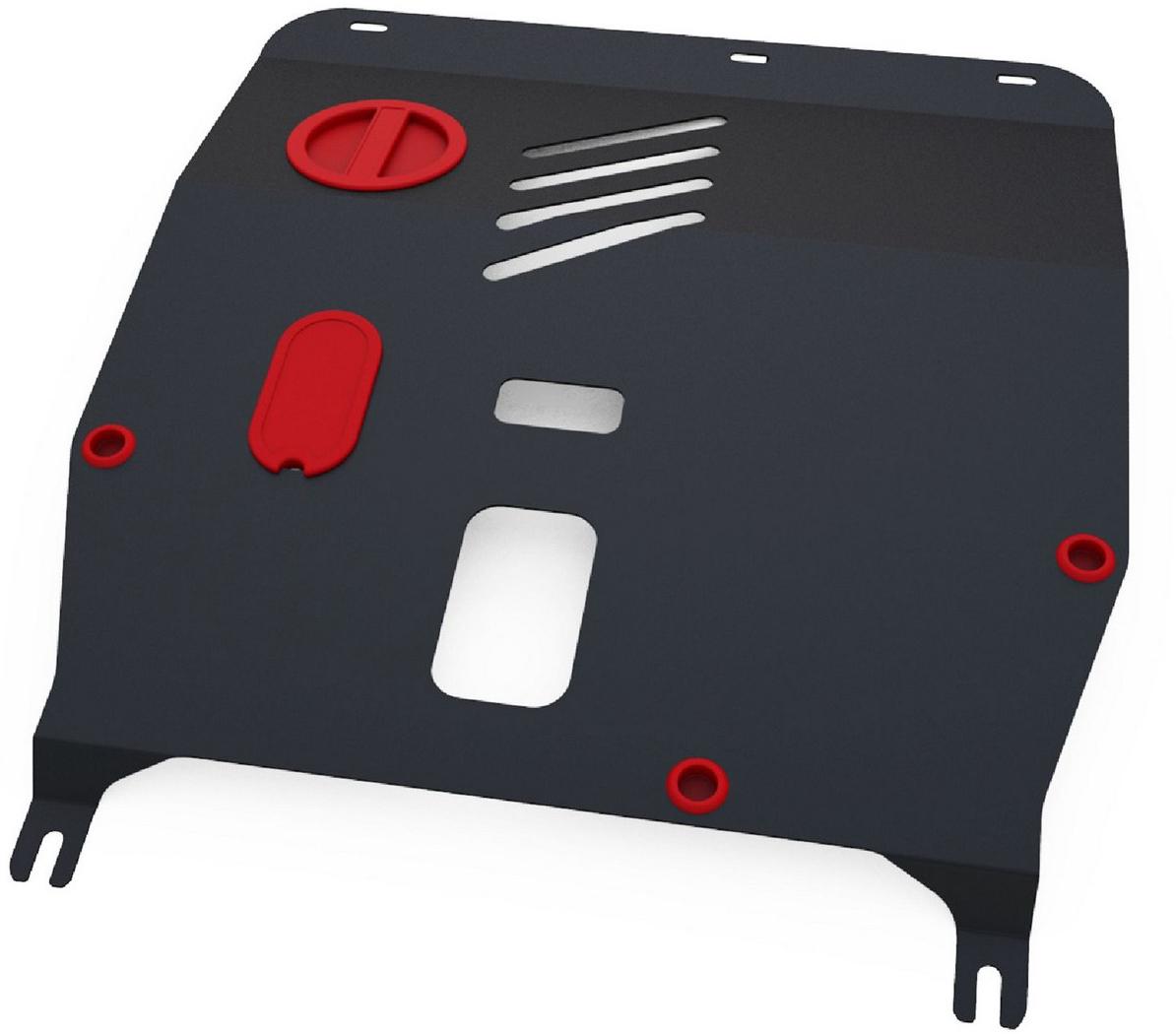Защита картера и КПП Автоброня Fiat 500 2009-, сталь 2 мм1.01706.1Защита картера и КПП Автоброня Fiat 500, V - 1,2; 1,4 2009-, сталь 2 мм, штатный крепеж, 1.01706.1Стальные защиты Автоброня надежно защищают ваш автомобиль от повреждений при наезде на бордюры, выступающие канализационные люки, кромки поврежденного асфальта или при ремонте дорог, не говоря уже о загородных дорогах. - Имеют оптимальное соотношение цена-качество. - Спроектированы с учетом особенностей автомобиля, что делает установку удобной. - Защита устанавливается в штатные места кузова автомобиля. - Является надежной защитой для важных элементов на протяжении долгих лет. - Глубокий штамп дополнительно усиливает конструкцию защиты. - Подштамповка в местах крепления защищает крепеж от срезания. - Технологические отверстия там, где они необходимы для смены масла и слива воды, оборудованные заглушками, закрепленными на защите. Толщина стали 2 мм. В комплекте инструкция по установке. При установке используется штатный крепеж автомобиля.Уважаемые клиенты! Обращаем ваше внимание на тот факт, что защита имеет форму, соответствующую модели данного автомобиля. Наличие глубокого штампа и лючков для смены фильтров/масла предусмотрено не на всех защитах. Фото служит для визуального восприятия товара.