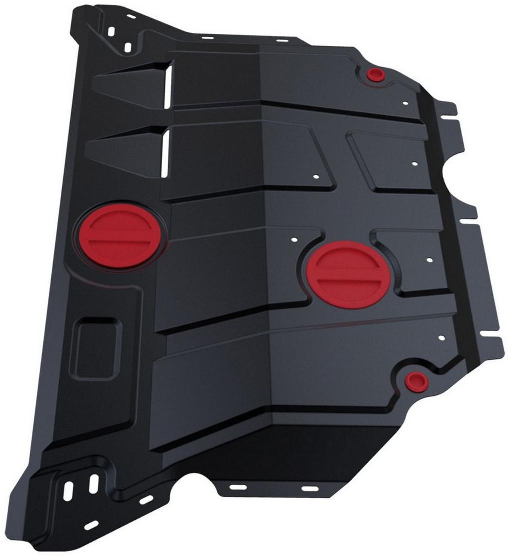 Купить Защита картера и КПП Автоброня AUDI A3 2012-/Seat Leon 2013-/Skoda Superb 2015-/Volkswagen Passat B8 2015-/Volkswagen Golf VII 2013-, сталь 2 мм