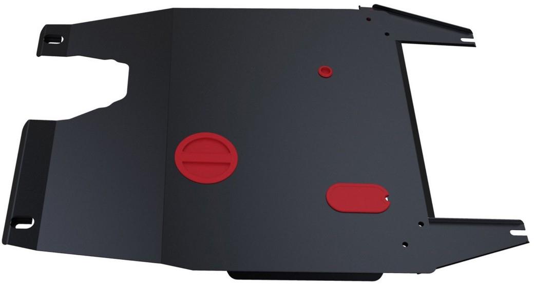 Защита картера и КПП Автоброня Chery Fora 2006-2010/Hyundai Vortex Estina 2008-2012, сталь 2 мм111.00902.3Защита картера и КПП Автоброня для Chery Fora, V - 1,6; 2,0 2006-2010/Hyundai Vortex Estina, V - 1,6; 2,0 2008-2012, сталь 2 мм, комплект крепежа, 111.00902.3Стальные защиты Автоброня надежно защищают ваш автомобиль от повреждений при наезде на бордюры, выступающие канализационные люки, кромки поврежденного асфальта или при ремонте дорог, не говоря уже о загородных дорогах. - Имеют оптимальное соотношение цена-качество. - Спроектированы с учетом особенностей автомобиля, что делает установку удобной. - Защита устанавливается в штатные места кузова автомобиля. - Является надежной защитой для важных элементов на протяжении долгих лет. - Глубокий штамп дополнительно усиливает конструкцию защиты. - Подштамповка в местах крепления защищает крепеж от срезания. - Технологические отверстия там, где они необходимы для смены масла и слива воды, оборудованные заглушками, закрепленными на защите. Толщина стали 2 мм. В комплекте крепеж и инструкция по установке.Уважаемые клиенты! Обращаем ваше внимание на тот факт, что защита имеет форму, соответствующую модели данного автомобиля. Наличие глубокого штампа и лючков для смены фильтров/масла предусмотрено не на всех защитах. Фото служит для визуального восприятия товара.