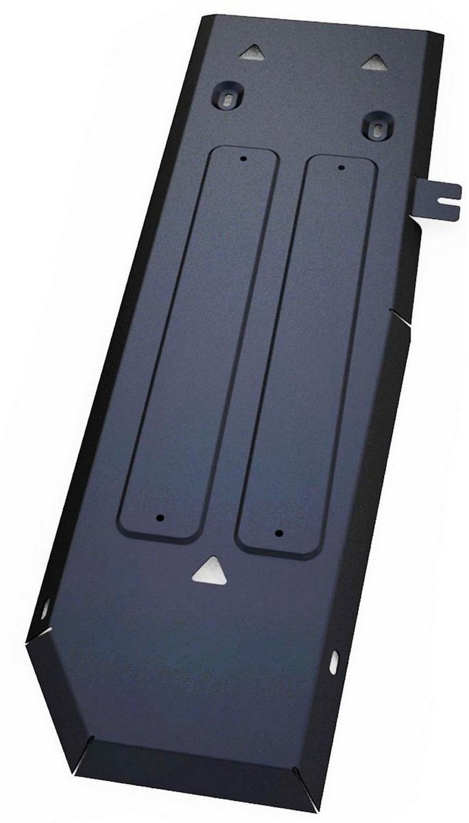 Защита топливного бака Автоброня Ford Ranger 2012-, сталь 2 мм111.01845.1Защита топливного бака Автоброня Ford Ranger, V - 2,2 2012-, сталь 2 мм, комплект крепежа, 111.01845.1Стальные защиты Автоброня надежно защищают ваш автомобиль от повреждений при наезде на бордюры, выступающие канализационные люки, кромки поврежденного асфальта или при ремонте дорог, не говоря уже о загородных дорогах. - Имеют оптимальное соотношение цена-качество. - Спроектированы с учетом особенностей автомобиля, что делает установку удобной. - Защита устанавливается в штатные места кузова автомобиля. - Является надежной защитой для важных элементов на протяжении долгих лет. - Глубокий штамп дополнительно усиливает конструкцию защиты. - Подштамповка в местах крепления защищает крепеж от срезания. - Технологические отверстия там, где они необходимы для смены масла и слива воды, оборудованные заглушками, закрепленными на защите. Толщина стали 2 мм. В комплекте крепеж и инструкция по установке.Уважаемые клиенты! Обращаем ваше внимание на тот факт, что защита имеет форму, соответствующую модели данного автомобиля. Наличие глубокого штампа и лючков для смены фильтров/масла предусмотрено не на всех защитах. Фото служит для визуального восприятия товара.