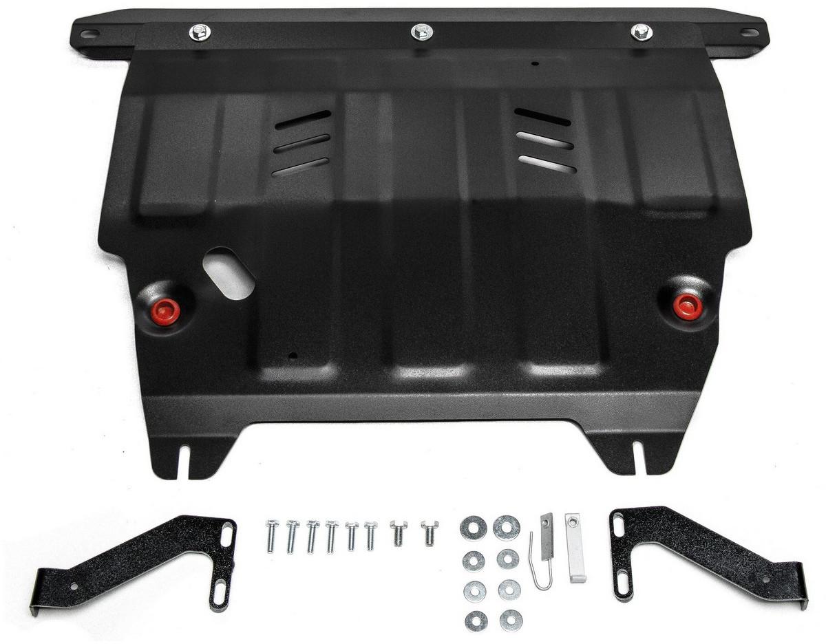 Защита картера и КПП Автоброня Ford Ecosport 2014-, сталь 2 мм111.01852.1Защита картера и КПП Автоброня Ford Ecosport, FWD V - 1,6; 2,0 2014-, сталь 2 мм, комплект крепежа, 111.01852.1Стальные защиты Автоброня надежно защищают ваш автомобиль от повреждений при наезде на бордюры, выступающие канализационные люки, кромки поврежденного асфальта или при ремонте дорог, не говоря уже о загородных дорогах. - Имеют оптимальное соотношение цена-качество. - Спроектированы с учетом особенностей автомобиля, что делает установку удобной. - Защита устанавливается в штатные места кузова автомобиля. - Является надежной защитой для важных элементов на протяжении долгих лет. - Глубокий штамп дополнительно усиливает конструкцию защиты. - Подштамповка в местах крепления защищает крепеж от срезания. - Технологические отверстия там, где они необходимы для смены масла и слива воды, оборудованные заглушками, закрепленными на защите. Толщина стали 2 мм. В комплекте крепеж и инструкция по установке.Уважаемые клиенты! Обращаем ваше внимание на тот факт, что защита имеет форму, соответствующую модели данного автомобиля. Наличие глубокого штампа и лючков для смены фильтров/масла предусмотрено не на всех защитах. Фото служит для визуального восприятия товара.