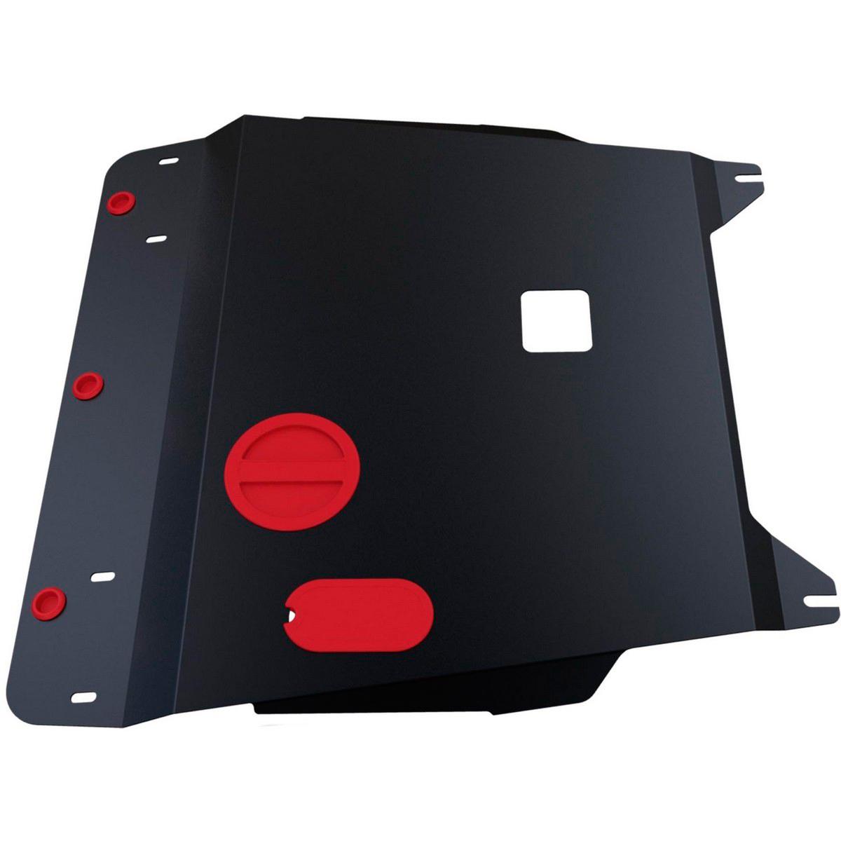 Защита картера и КПП Автоброня Hyundai i20 2009-2011, сталь 2 мм111.02305.1Защита картера и КПП Автоброня Hyundai i20, V - 1,2; 1,4; 1,6 2009-2011, сталь 2 мм, комплект крепежа, 111.02305.1Стальные защиты Автоброня надежно защищают ваш автомобиль от повреждений при наезде на бордюры, выступающие канализационные люки, кромки поврежденного асфальта или при ремонте дорог, не говоря уже о загородных дорогах. - Имеют оптимальное соотношение цена-качество. - Спроектированы с учетом особенностей автомобиля, что делает установку удобной. - Защита устанавливается в штатные места кузова автомобиля. - Является надежной защитой для важных элементов на протяжении долгих лет. - Глубокий штамп дополнительно усиливает конструкцию защиты. - Подштамповка в местах крепления защищает крепеж от срезания. - Технологические отверстия там, где они необходимы для смены масла и слива воды, оборудованные заглушками, закрепленными на защите. Толщина стали 2 мм. В комплекте крепеж и инструкция по установке.Уважаемые клиенты! Обращаем ваше внимание на тот факт, что защита имеет форму, соответствующую модели данного автомобиля. Наличие глубокого штампа и лючков для смены фильтров/масла предусмотрено не на всех защитах. Фото служит для визуального восприятия товара.