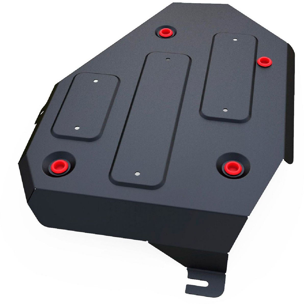 Защита топливного бака Автоброня Kia Sorento Prime 2015-, сталь 2 мм111.02833.1Защита топливного бака Автоброня Kia Sorento Prime 4WD, V- 2,2CRDi; 2,4i; 3,3i 2015-, сталь 2 мм, комплект крепежа, 111.02833.1Стальные защиты Автоброня надежно защищают ваш автомобиль от повреждений при наезде на бордюры, выступающие канализационные люки, кромки поврежденного асфальта или при ремонте дорог, не говоря уже о загородных дорогах. - Имеют оптимальное соотношение цена-качество. - Спроектированы с учетом особенностей автомобиля, что делает установку удобной. - Защита устанавливается в штатные места кузова автомобиля. - Является надежной защитой для важных элементов на протяжении долгих лет. - Глубокий штамп дополнительно усиливает конструкцию защиты. - Подштамповка в местах крепления защищает крепеж от срезания. - Технологические отверстия там, где они необходимы для смены масла и слива воды, оборудованные заглушками, закрепленными на защите. Толщина стали 2 мм. В комплекте крепеж и инструкция по установке.Уважаемые клиенты! Обращаем ваше внимание на тот факт, что защита имеет форму, соответствующую модели данного автомобиля. Наличие глубокого штампа и лючков для смены фильтров/масла предусмотрено не на всех защитах. Фото служит для визуального восприятия товара.